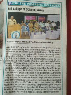"""Workshop conducted on """"JANANI-2"""""""