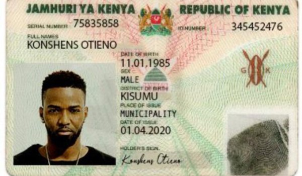 Jamaican star gives Kenyans big laugh with his dummy Kenyan ID
