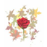 fall rose t-shirt