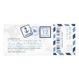 Boarding-Durchlauf-Seeluftpost-Karten-Einladung