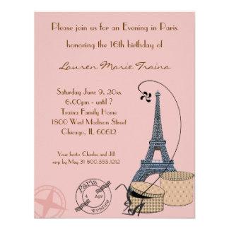 Ein Abend in der Paris-Beige-Party Einladung