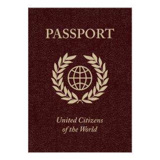 kastanienbrauner Pass Einladungen