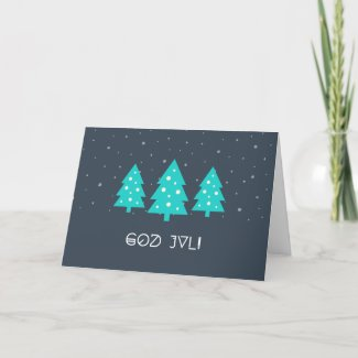 Christmas Card 'God Jul' Feestdagen Kaart