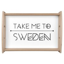 Dienblad Take me to Sweden