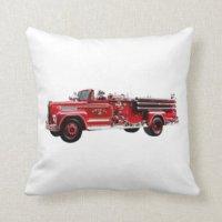 Fire Truck Pillows - Fire Truck Throw Pillows | Zazzle