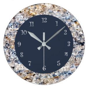 blue kitchen wall clocks countertops cost zazzle ca marble stone