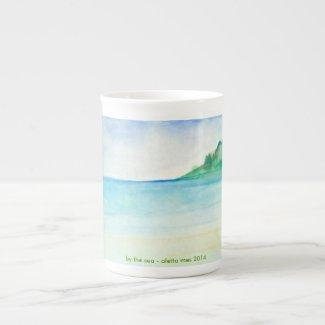 By the Sea - porcelain mug - gift item