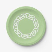 Celtic Knot - light green Paper Plate | Zazzle.ca