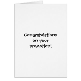 Congratulations On Promotion Cards, Photocards