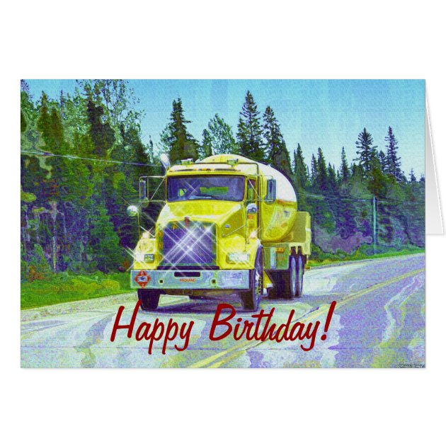 COOL TRUCK Funny Trucker Birthday Cards Zazzle Ca