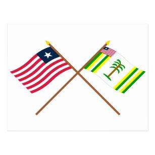 flag of liberia postcards