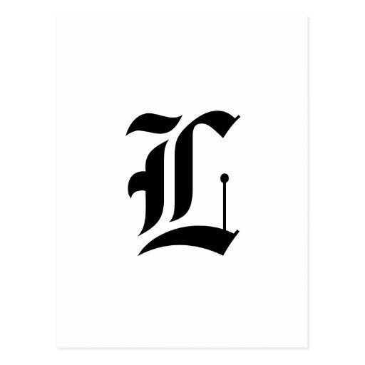 Custom Old English Font Letter (e.g. L for Letter