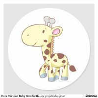Cute Cartoon Baby Giraffe Shirts Stickers Sticker | Auto ...