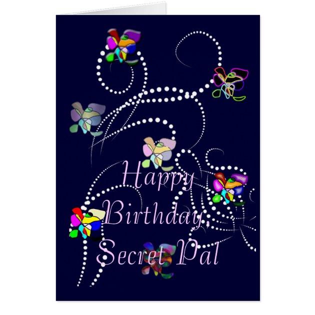 Happy Birthday Secret Pal Card Zazzle Ca