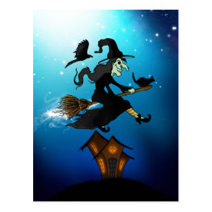 witch riding broomstick gifts