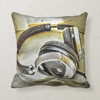 Headphones Decorative Pillows  Zazzleca