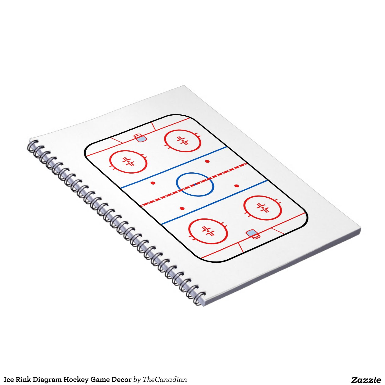 hockey rink diagram 13 pin trailer socket wiring uk ice game companion note book zazzle