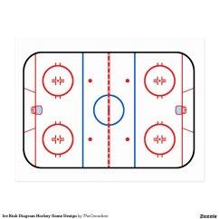 Nhl Hockey Rink Diagram Printable 1983 Chevy Truck Starter Wiring Ice Game Companion Postcard Zazzle