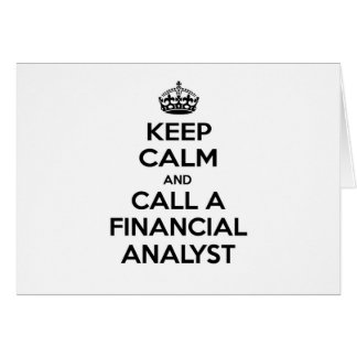 Financial Analyst Funny Cards, Photocards, Invitations & More