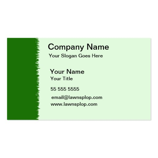 lawn care business card grass sample