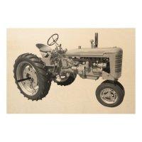 Old rustic tractor wood wall art | Zazzle.ca