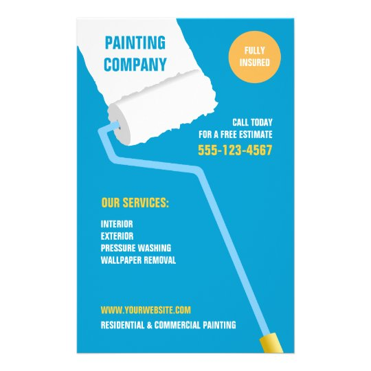 Painting Company Contractor Flyer Zazzle Ca