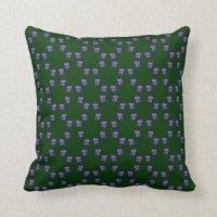 Dark Green Pillows - Dark Green Throw Pillows | Zazzle