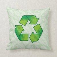 Recycle Pillows - Recycle Throw Pillows | Zazzle