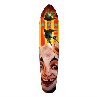 Scary Clown Skate Board