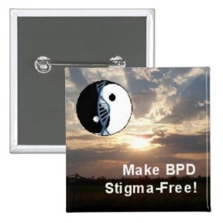 "Square ""Make BPD Stigma-Free!"" Scenery Pin"