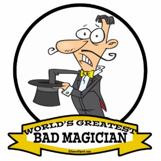 WORLDS GREATEST BAD MAGICIAN CARTOON ACRYLIC CUT OUTS