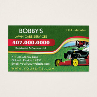 1 000 lawn care business cards