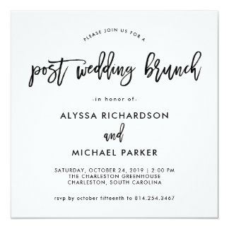 Wedding Brunch Invitations In Minimalist Style For Creating Impressive Invitation Template 286