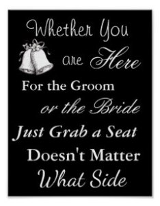 Wedding seating chart sit wherever poster also charts zazzle rh