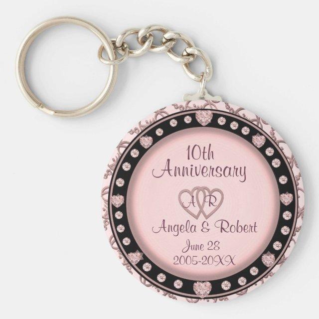 10th Anniversary Keychain