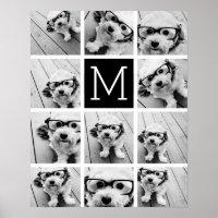 Photo Instagram Collage Monogram Poster