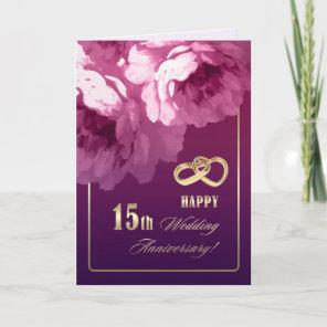 15th Wedding Anniversary Greeting Cards