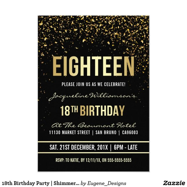 18th Birthday Party | Shimmering Gold Confetti