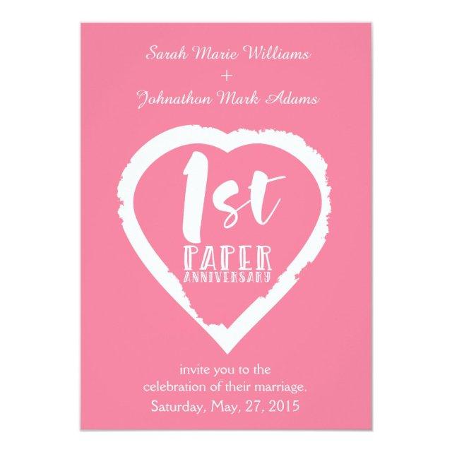1st wedding anniversary card