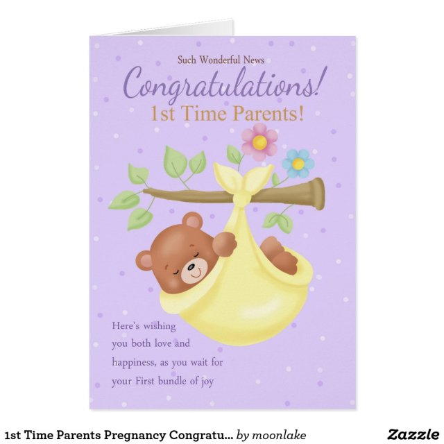 1st Time Parents Pregnancy Congratulations Card