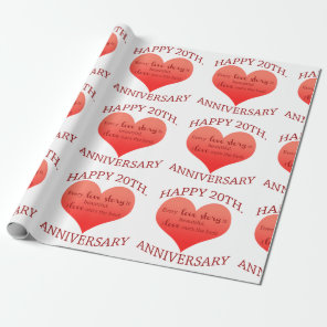 20th. Anniversary Wrapping Paper