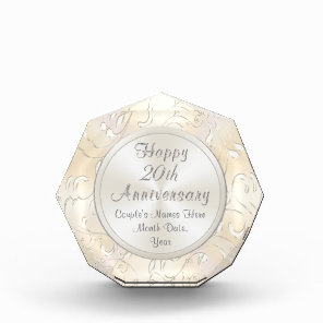 20th Wedding Anniversary Gift for Wife Personalise
