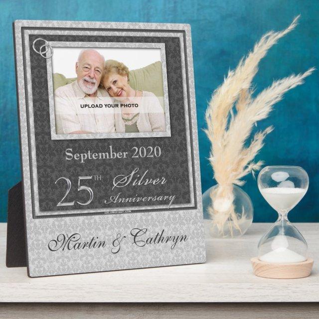 25th Silver Anniversary Photo Plaque
