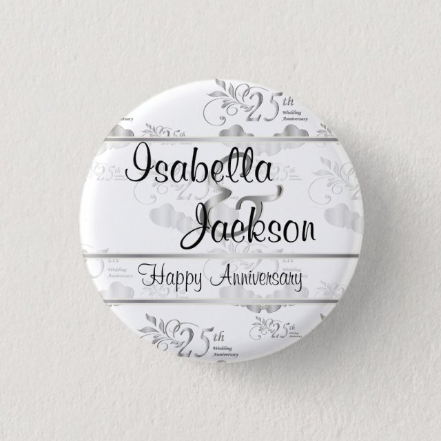 25th Silver Wedding Anniversary Badge