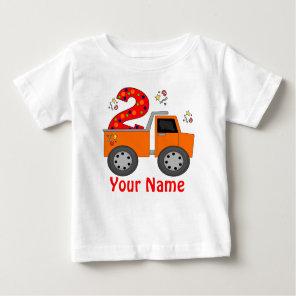 2nd Birthday Dump Truck Personalised T-shirt