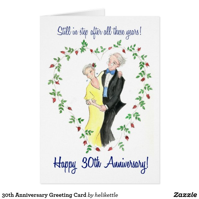 30th Anniversary Greeting Card