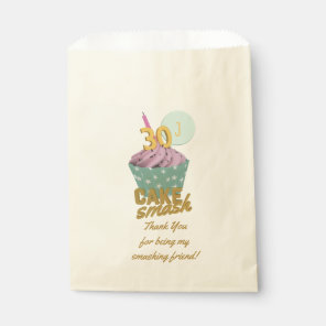 30th Birthday Cake Smash Party Thank You Favour Favour Bags