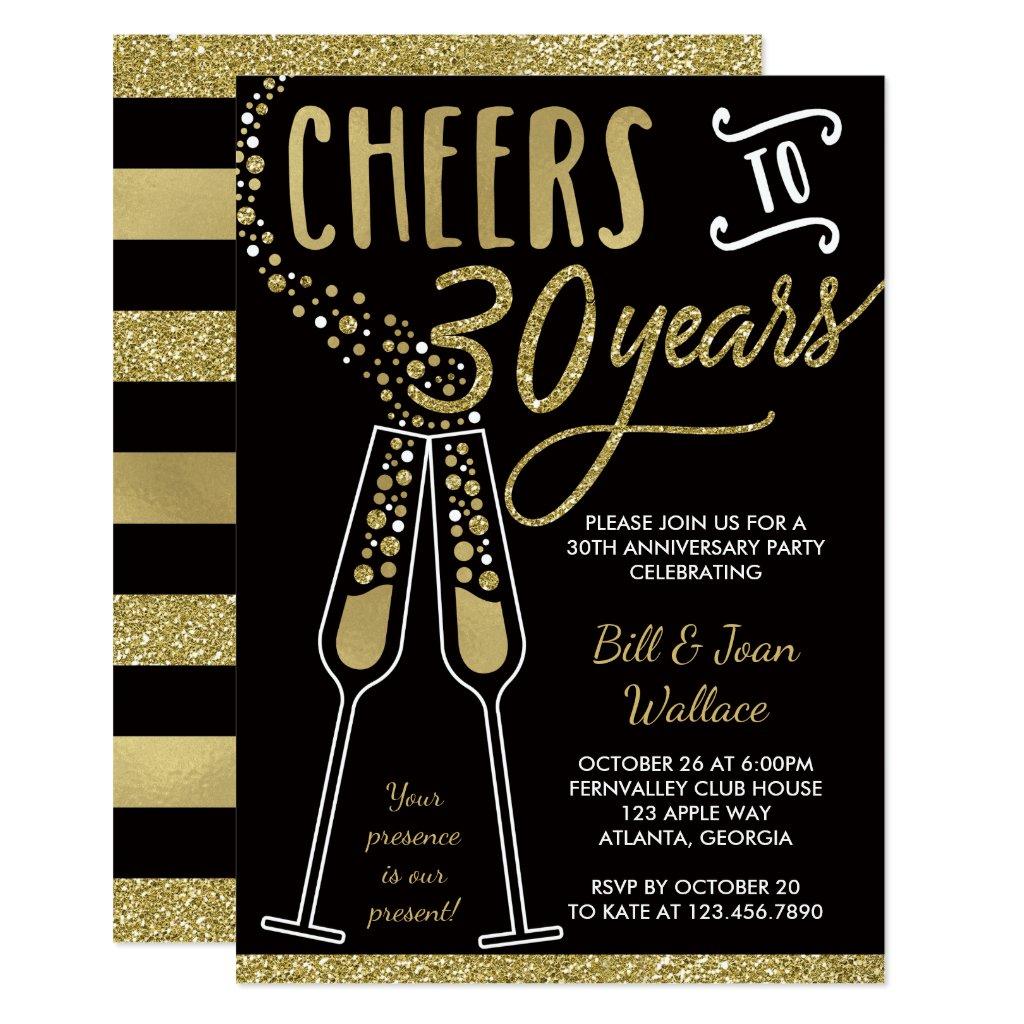 30th Wedding Anniversary Invitation