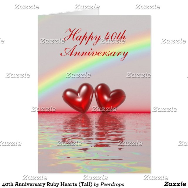 40th Anniversary Card