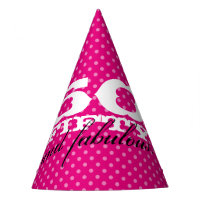 50 Fifty and fabulous pink 50th birthday party hat